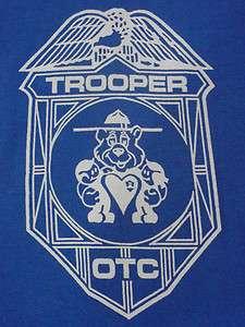 VTG Pig State Trooper Police Indie T Shirt Blue Mens S