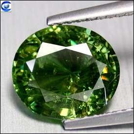cts  Big Natural Best Lustrous Green Demantoid Garnet