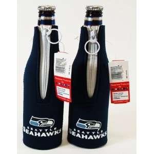 Set of (2) NFL Seattle Seahawks Football Bottle Suit Koozies Coolers