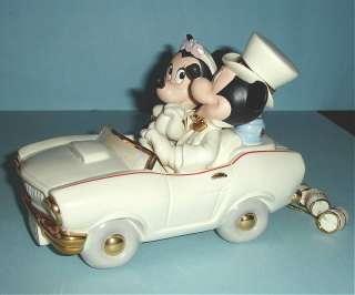 Lenox Disney Mickey Minnies Dream Honeymoon Car New