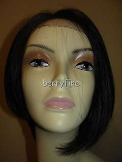 BFS04~NEW BEVERLY JOHNSON #1B Synthetic Hair BOB Lace Front Wig