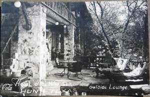 1940 Realphoto Resort & Coca Cola Cooler Hunt, Texas TX