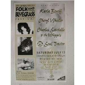 Karla Bonoff Cheryl Wheeler Charles Santelle Poster