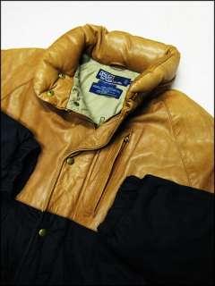 Mens Vintage Designer Ralph Lauren Goose Down & Leather Jacket Sz