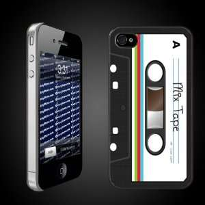 Fun iPhone Hard Case Designs   Cassette Tape Look CLEAR