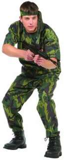 NEW TEEN BOYS ARMY MILITARY SOLDIER HALLOWEEN COSTUME