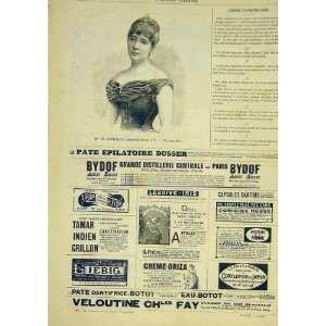 Portrait Bonnemain Lady Benque French Print 1891 Advert