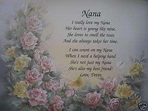 NANA POEM BIRTHDAY, CHRISTMAS, MOTHERS DAY GIFTS FOR GRANDMOTHER