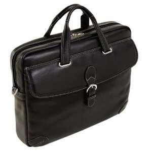 Siamod BORELLA (Black) Leather Small Laptop Brief Siamod