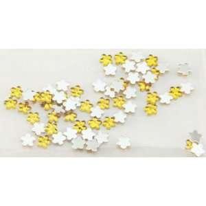 Zink Color Nail Art Acrylic Rhinestone Yellow Flower 100