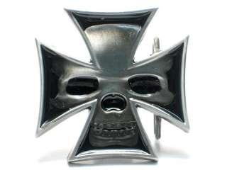 IRON CELTIC SKULL CROSS MEDIEVAL CRUSADE TATTOO YOUR SOUL BELT BUCKLE