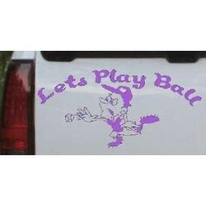 Play Ball Baseball Pitcher Sports Car Window Wall Laptop Decal Sticker