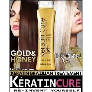 Brazilian Hair Treatment Keratin Cure Gold & Honey VERSION 2 Brazilian
