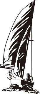 Sailing boat wall art decal vinyl sticker