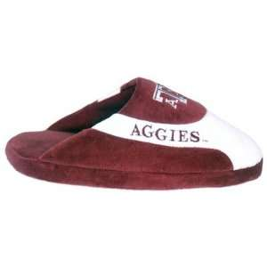 Texas A&M Aggies TAMU NCAA Low Pro Stripe Slippers Medium