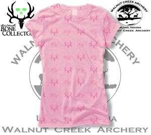 Bone Collector Skulls Antler Logo Pink/Pink Ladies Shirt 303 1178PA