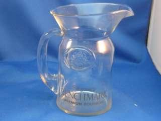 Vintage Seagrams Premium Bourbon Glass Water Pitcher