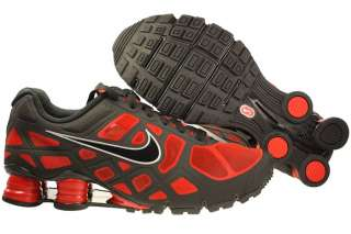 New Men Nike Shox Turbo+ 12 Black/Red Running Shoes 454166 600 Sizes 7