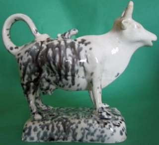 COW CREAMER MILK PITCHER FIGURE WELSH SWANSEA OR YORKSHIRE?