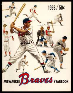 1963 Milwaukee Braves Year Book Great Color