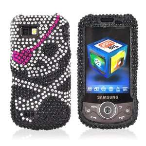 com for Samsung Behold 2 Bling Case Skull Pink Eye Patch Electronics