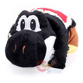 Super Mario Black Yoshi Pillow Pet / Pillow Pad  Transforming Cushion