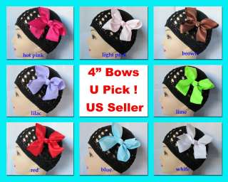 Hair Ribbon Bows 4 Solid Bright Colors Wholesale Lot Baby Girl Gift