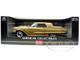 FORD THUNDERBIRD HARD TOP DUST GOLD 1/18 DIECAST CAR MODEL BY SUNSTAR