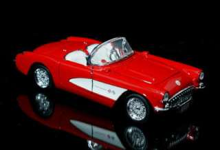 1957 Chevrolet Corvette SUPERIOR Diecast 124 Scale Red
