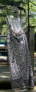 Ann Taylor Loft Black & Cream Dress w/ Flowers Sz 4 NWT