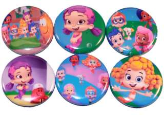 BUBBLE GUPPIES inspired Set of 6 Buttons Pins 1 (Set2)
