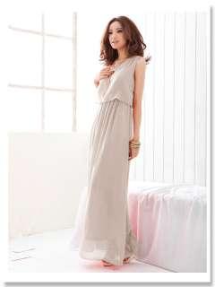 2012 new Spring Bohemian long chiffon skirt Dress Elastic Waistband