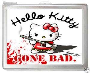 Hello Kitty #E37 Card Holder Money Case with Lighter