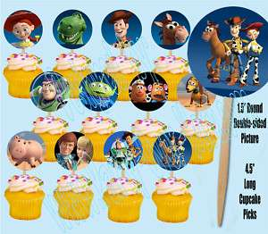 Toy Story Movie 1.5 Cupcake Picks Cake Topper  12 pcs
