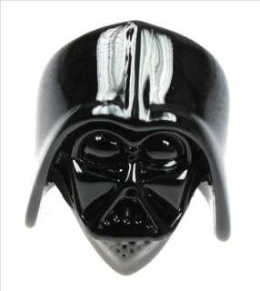 Star Wars Darth Vader Helmet Skull Black Ring Size 7
