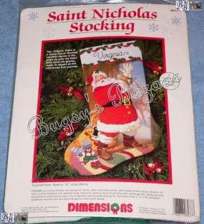 Dimensions SAINT NICHOLAS Crewel Stocking Christmas Kit   Santa