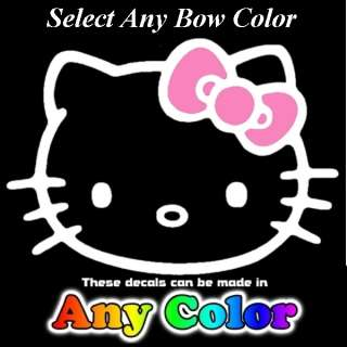 Any Color BOW 21 by 30 inch Auto Car Truck SUV Window Sticker Decals