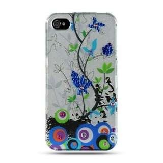 SPRING Flower DIAMOND Jewel Case for Apple iPHONE 4 4S Rhinestone GEM