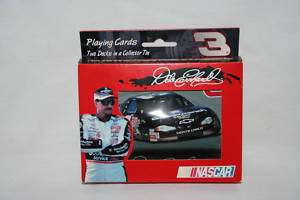 Dale Earnhardt #3 Nascar Playing Cards With Tin, New, Loc BX 5