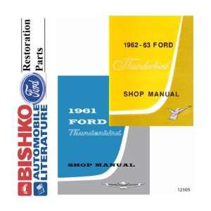 1962 1963 FORD THUNDERBIRD Car Shop Service Manual Book CD: Automotive