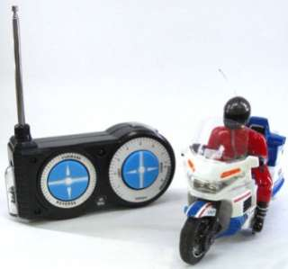 RC Radio Remote Control Motorcycle Motor bike the Police 9121 wht 2012