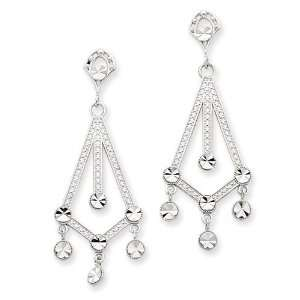 14k White Gold Diamond cut Chandel Jewelry