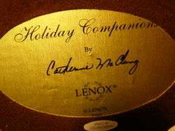 GORGEOUS * LENOX Bird * McClung 2000 Holiday Companion * MINT with