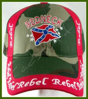CONFEDERATE Flag HAT Redneck Rebel Camo Camouflage Cap