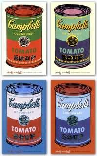ART SET Campbells Soup Can, 1965 Set Andy Warhol