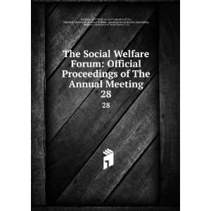 The Social Welfare Forum Official Proceedings of The