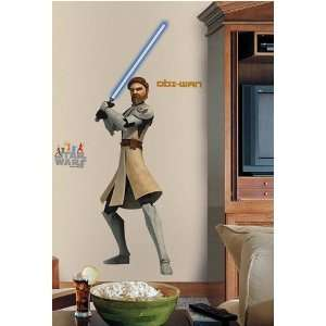 Wan Kenobi   Star Wars The Clone Wars (Glow in the Dark) Peel & Stick