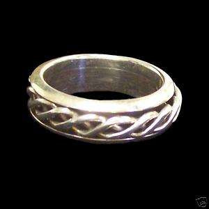 Celtic Woven Knot Spinner Ring Sterling 925 Size 7