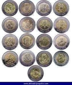 PESOS COIN SET MEXICO COMPLETE COLLECTION REVOLUTION