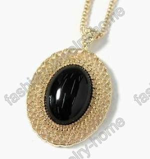 fashion oval red purple green black pink white gem gold plated